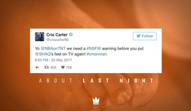 #AboutLastNight: 16 Hysterical Tweets Roasting Shaq's Feet