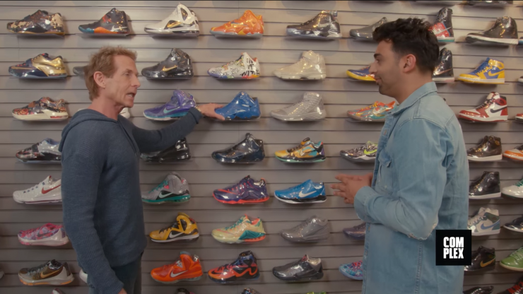 Skip Bayless Goes Sneaker Shopping With Complex The controversial Fox  Sports host takes a trip to LA to cop some new kicks. 095b33496