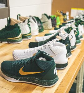 Every Sneaker We Spotted in the Michigan State Basketball Equipment Room