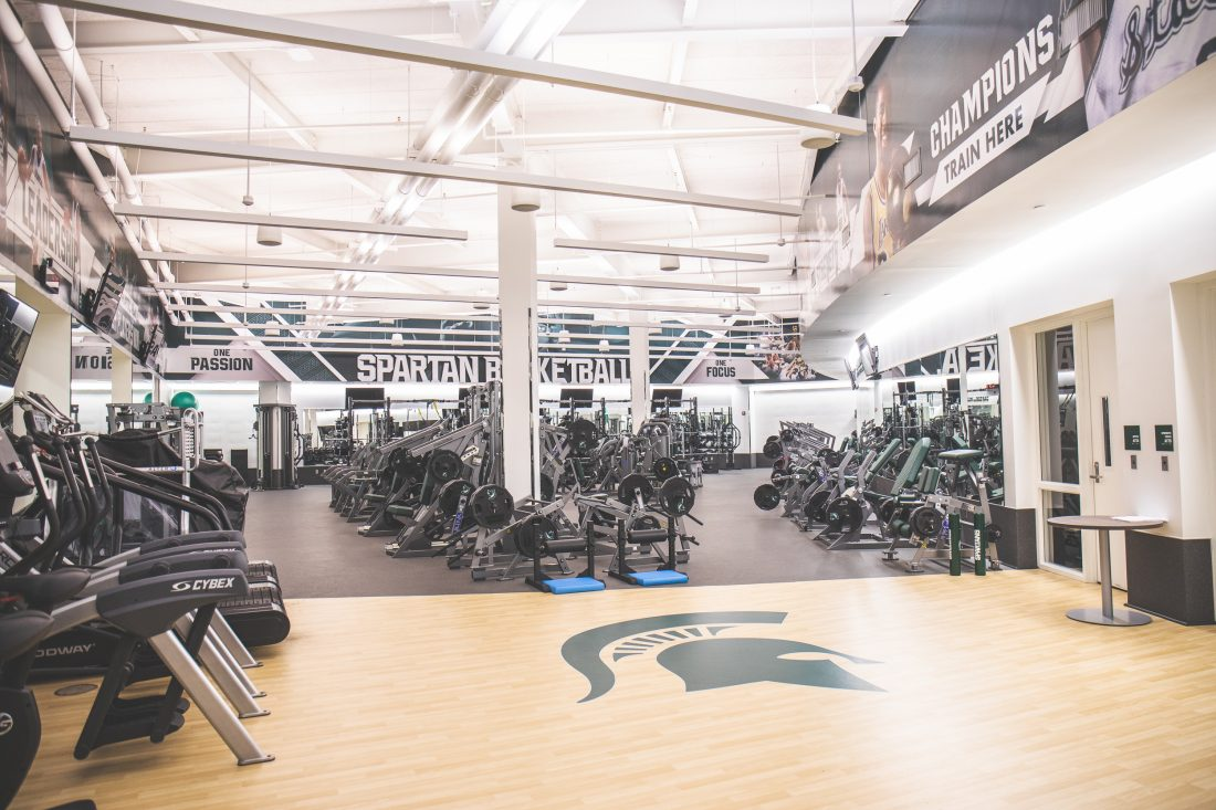 Michigan State Basketball Locker Room